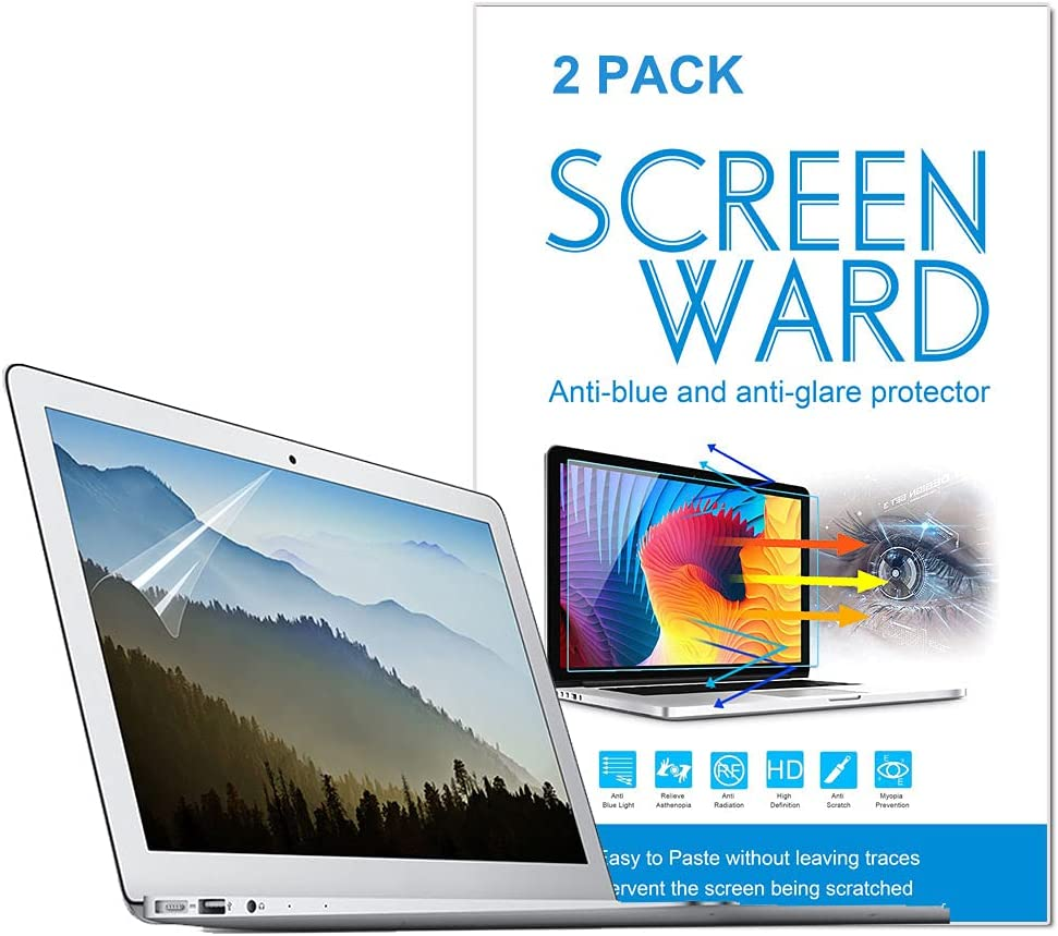 Anti Blue Light Anti Glare Screen Protector Compatible with MacBook Air 13 13.3 model A1369 A1466 A1304 A1342 A1181 with Retina Display and Touch ID,Eye Protection Blue Light Blocking for MacBook Air 13 InchTouch Bar Screen Protector Anti Glare Filter Fil