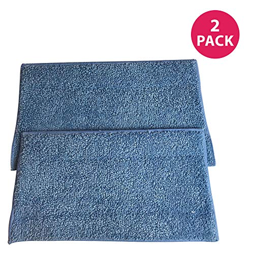 Crucial Vacuum Replacement Mop Pads - Compatible with Euroflex - Fits Euroflex EZ1 Monster Microfiber Steam Pads - Washable, Reusable Part, Models for Home, Office Universal Use - Easy Clean (2 Pack)