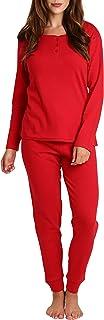 Camisa de Manga Larga y pantalón de Pijama de 3 Piezas para Mujer con Bolsa para Horno