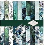 ITD Collection - Scrapbooking-Paket,Scrapbooking Papier,Dekorpapier, Decoupage, Kartenherstellung,Papiergröße - 310 x 320 mm (SLS-005) (The Elven Valley)