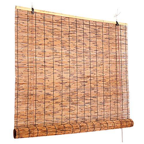 Persianas Enrollables De Bambú, Persianas Enrollables De Caña para Exterior/Ventana/Puerta/Patio/Porche, Persianas Solares con Filtro De Luz Natural,W150xH235cm/59x92.5in