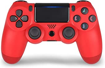 Wireless Controller for PS4, Remote for Sony Playstation 4 with Charging Cable (Red) New Model