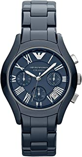 Emporio Armani Men'S Blue Dial Stainless Steel Band Watch Ar1470, Quartz, Analog