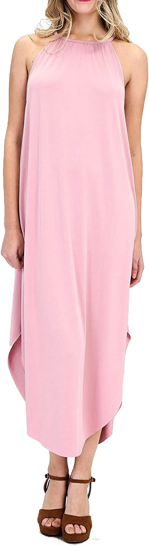 DK Maxi Sleeveless Racerback Loose Plain Casual Long Summer Dresses for Women