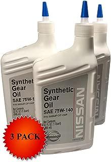 Nissan Genuine OEM 75W-140 Synthetic Gear Oil 999MP-DF100P (3 Quarts)