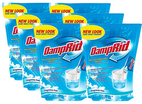 DampRid FG30K Refill Bag Fragrance Free, 6-Pack, 6 Piece
