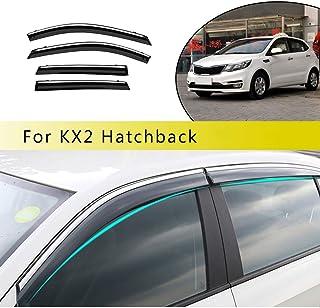 ALLYARD Für K2 Hatchback 2011 2016 Für Verna Hatchback Auto Seitenscheibe Visiere Deflectors Window Visier Regen Wind Außenkantenschutz Windabweiser Regenabweiser Dekoration 4Stück