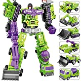 LUSTAR Transformers Deluxe Juguete 6 in 1 Set, Manual deformación Juguete Figura de acción Robot Guerrero Mech Material de aleación Warrior Serie, Edades de 3 y más Niños