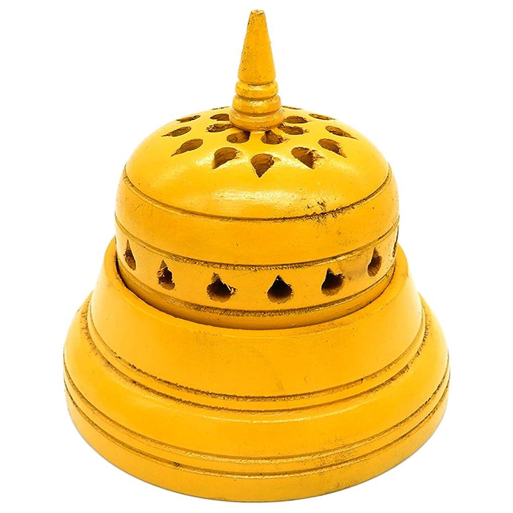詐欺師百年紀元前WhopperIndia 4インチのテンプルの形状のお香立て。 アロマセラピー、ゼン、スパ、ヴァストゥ、レイキチャクラセッティングに最適なギフト。