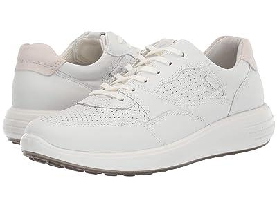 ECCO Soft 7 Runner Sneaker (White/Shadow White) Women