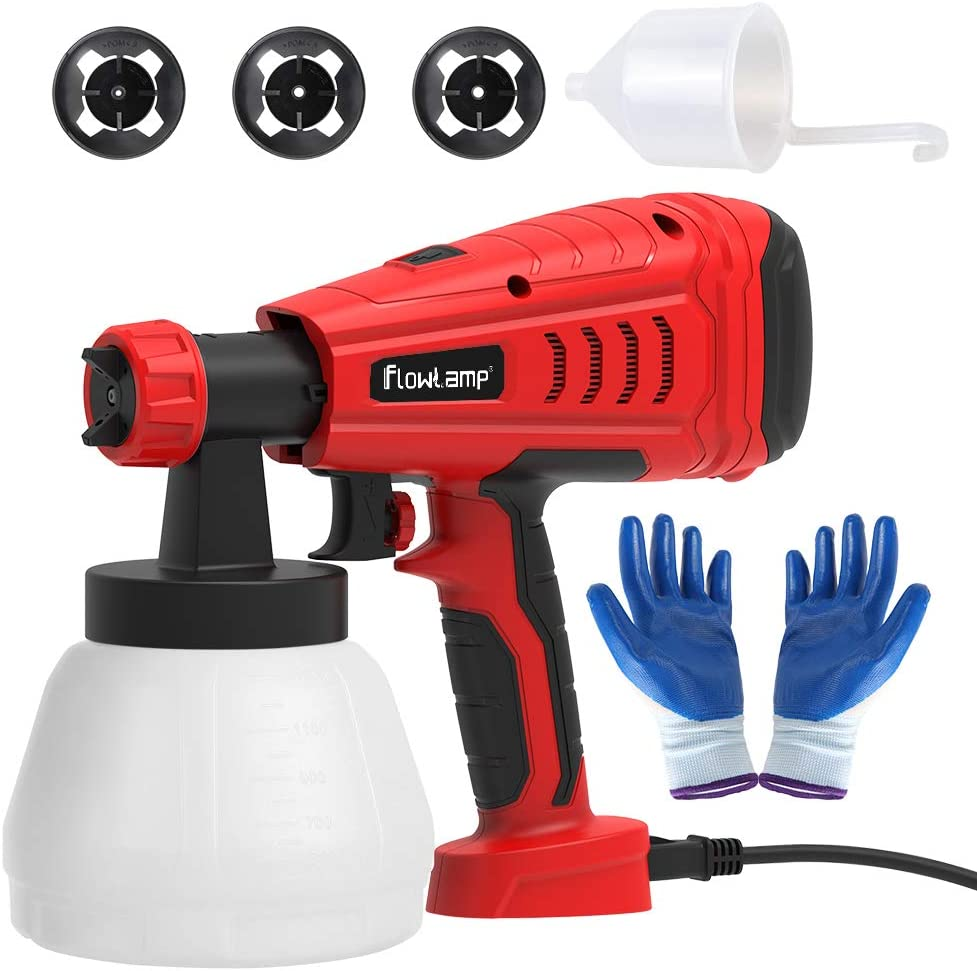 Paint Sprayer,700W High Power Home Paint Sprayer with 1300ml Container, 3 Nozzle...