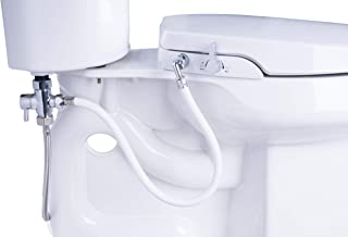 GenieBidet [ROUND] Seat-Self Cleaning Dual Nozzles. Rear & Feminine Cleaning - No wiring required. Simple 20-45 minute installation or less. Hybrid T with ON/OFF Included!