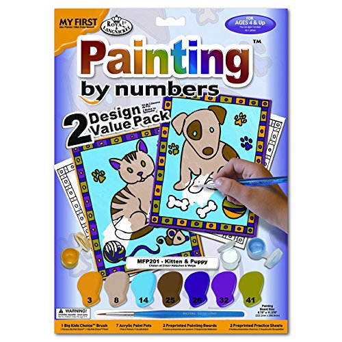 My First Paint By Number Kitten & Puppy 2Pk