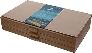 3 Drawer Wood Pastel Storage Box 15-3/4 x 9-1/2 x 3-1/2 inches