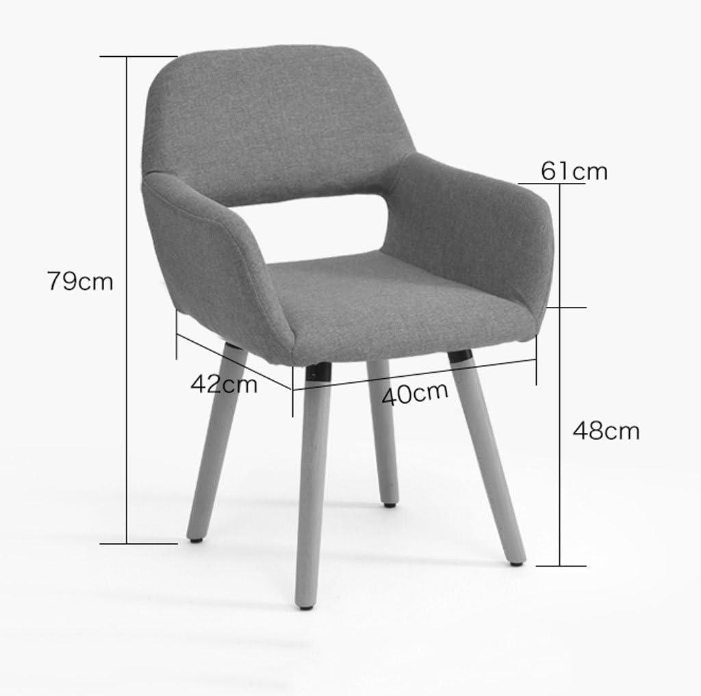 WDX- Chaise en bois massif simple chaise d'ordinateur moderne Creativity dossier chaise de bureau Casual chaise de salle à manger mode (Color : A) B