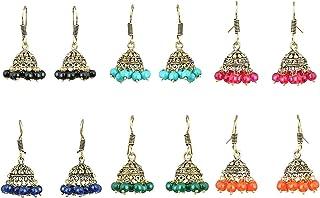 Subharpit Firozi Color Tussel Thread Dangle /& Drop Earrings for Women /& Girls