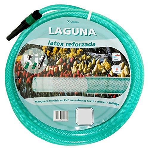 "SATURNIA 8070930 Manguera Latex Reforzado 15 mm. - 5/8"" Rollo 25 Metros Con Accesorios"