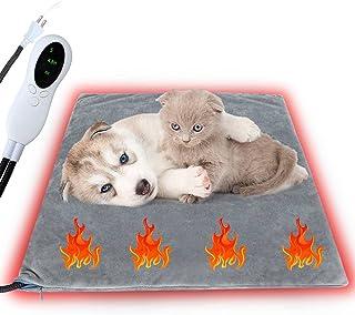 Sazuik ペット用ホットカーペット 犬 猫用 ホットマット 45*50cm 3段階タイマー 10段階温度調整 ペットヒーターマット ペット用ホットヒーター 小動物 寒さ対策 ペット用ヒーター ペット加熱パッド PSE認証済み 恒温 噛み付き...