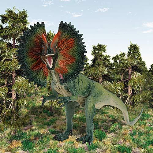 DIII Realistisches Dinosaurier-Modell, lebensechte Dilophosaurus-Dinosaurier-Figur, Spielset, Geschenk