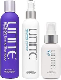 Hair Blonda Shampoo, 8 Oz, Hair 7 Seconds Detangler Leave In Conditioner 8 Oz & U Argan Oil, 4 Oz