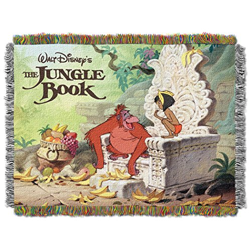 Disney's The Jungle Book, 'King Louie' Woven Tapestry Throw Blanket, 48' x 60', Multi Color