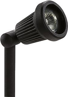 Sterno Home GL22724BK, Black Paradise Low Voltage Cast Aluminum 20-Watt Spot Light with Glass Panel