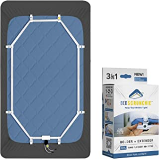BED SCRUNCHIE Sheet Holder Straps - Heavy Duty Gripper Clips - Strengthened Parachute Cord - 360 Degree Bed Sheet Tightener - Strongest and Effective Extender - Ideal for All Mattress Sizes