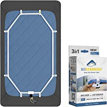 BED SCRUNCHIE Bed Sheet Holder Mattress Straps w/ Strong Gripper Sheet Clips for Bedding – 360 Degree Parachute Cord Tight...