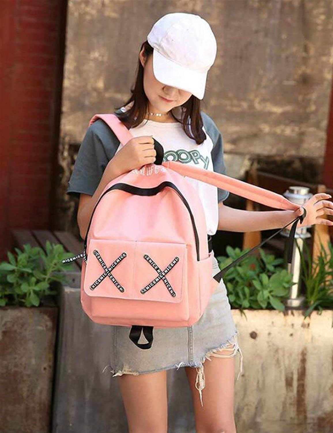 JINQD HOME Personality Backpacks Holiday Leisure Rucksack LargeCapacity Campus Student Schoolbag Backpack