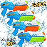 TOY Life Water Guns for Kids, Adults- 520cc 4 Pack Super Soaker Water Guns Big for Adults, Powerful Squirt Guns for Kids- Water Blaster Water Toys- Long Range Water Gun Pool Toys for Kids, Adults