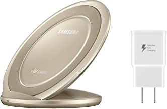 Samsung Qi Certified Fast Charge Wireless Charging Pad + Stand - Supports wireless charging on Qi compatible smartphones - Gold