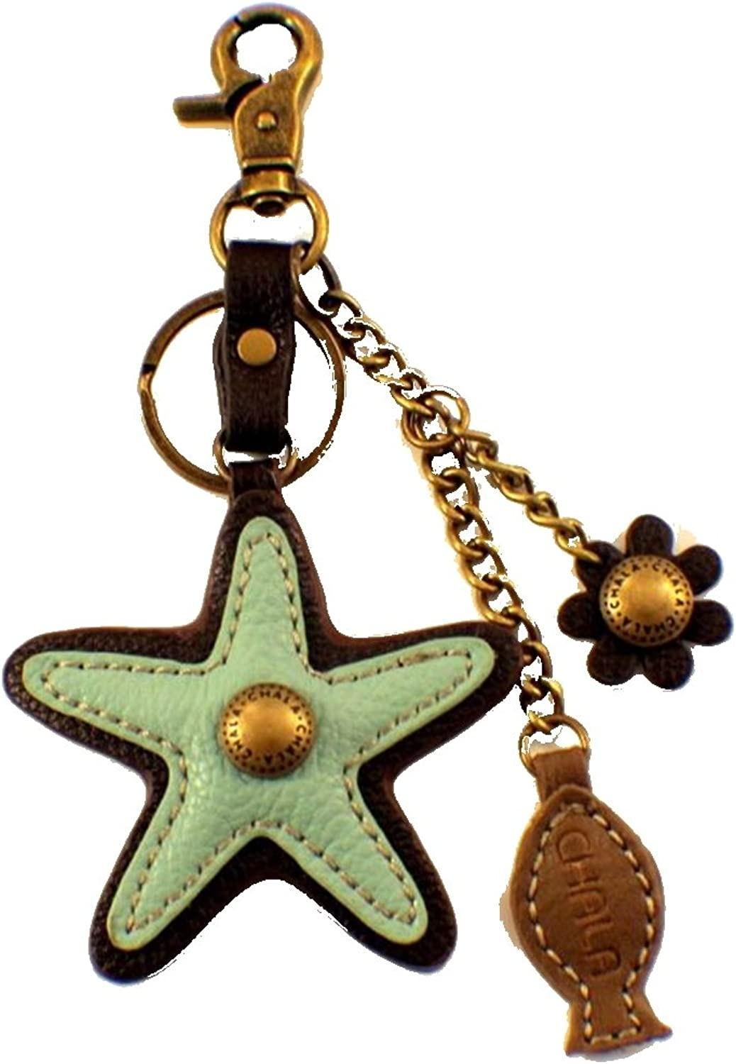 Chala Aqua Starfish Charming Key Chain Purse ag Fob Charm