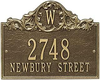 house number plaque craftsman