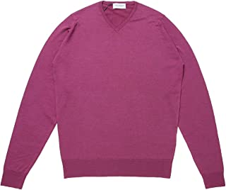 JOHN SMEDLEY ジョンスメドレー Vネック セーター/SHIPTON シップトン 30ゲージ メンズ [並行輸入品]