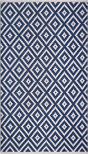 FAB HAB Chanler - Tapis Bleu en Polyéthylène recyclé (Fibres Polyester) pour intérieur/extérieur (180 cm x 270 cm)