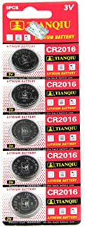 Cotchear CR2016 3V Lithium Battery(5-Pack)
