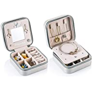 Yiluana Portable Jewelry Case Travel Earring Ring Necklace Accesories Organizer Box with Zipper...