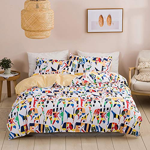 BASA Color Duvet Cover-With2Pillowcases, Easy To Care, Anti-Allergic, Soft And Comfortable, Set (Double) 200 * 200cm