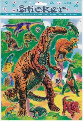 dinosaure animaux Decal autocollant de décalque 1 Dimensions de la feuille: 25 cm x 20 cm