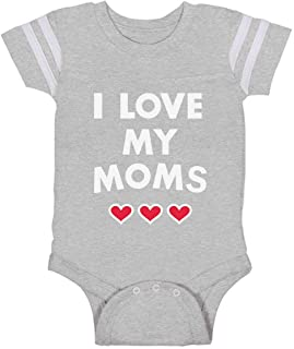 Tstars I Love My Moms - Gay Pride Mother's Day Gift Infant Baby Jersey Bodysuit