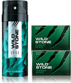 Wild Stone Edge Deodorant and 2 Forest Spice Soap