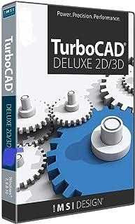 TurboCAD Deluxe 2019 2D Design & 3D Modeling CAD Software for Windows
