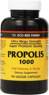 Propolis-Raw Unprocessed 1000mg Y.S. Organic Bee Farms 90 Caps, Pack of 2
