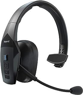 BlueParrott B550 XT Mono Bluetooth Over Ear Headset – 96 % Noise Cancelling mit Sprachsteuerung für unterwegs und Walkie Talkie Funktion – Schwarz