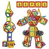 Crenova Magnetische Bausteine Regenbogenfarben Bausatz Pädagogischen Magnetischen Fliesen Spielzeug für Kinder