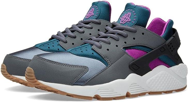 Nike Air Huarache Run Women's Running Shoes Dark Grey/Teal 634835-016