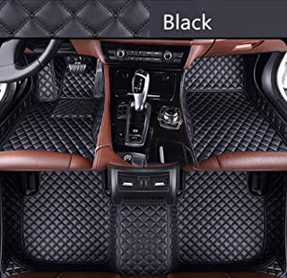 ALLYARD Custom Car Floor Mats for Toyota Prius 2012-2015 7-Seats All Weather Non-Slip Full Surrounded Advanced Performance Liners Luxury Leather Full Covered Car Carpet Floor Liner Black
