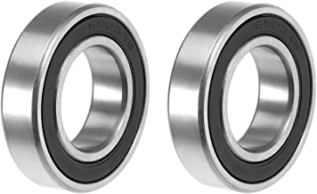uxcell 6903-2RS Deep Groove Ball Bearing 17x30x7mm Double Sealed ABEC-3 Bearings 2-Pack