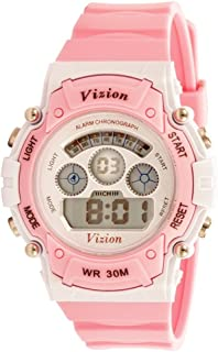 Vizion Unisex Digital Multicolor Dial Sports-Alarm-Backlight Watch for Kids