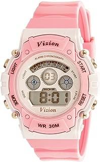 Vizion Unisex Digital Multicolor Dial Sports-Alarm-Backlight Watch for Kids